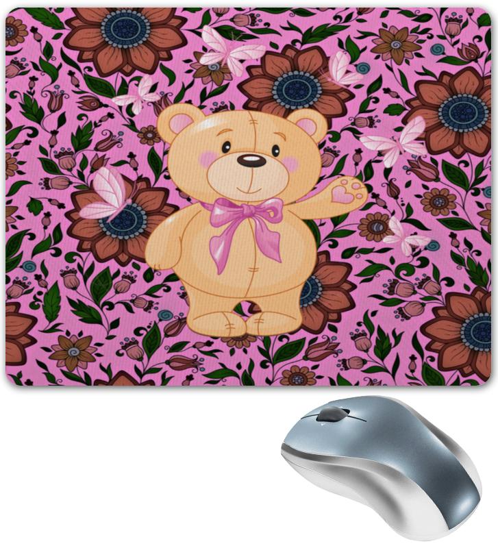 Printio Мишка и бабочки коврик для мышки круглый printio мишка и букет