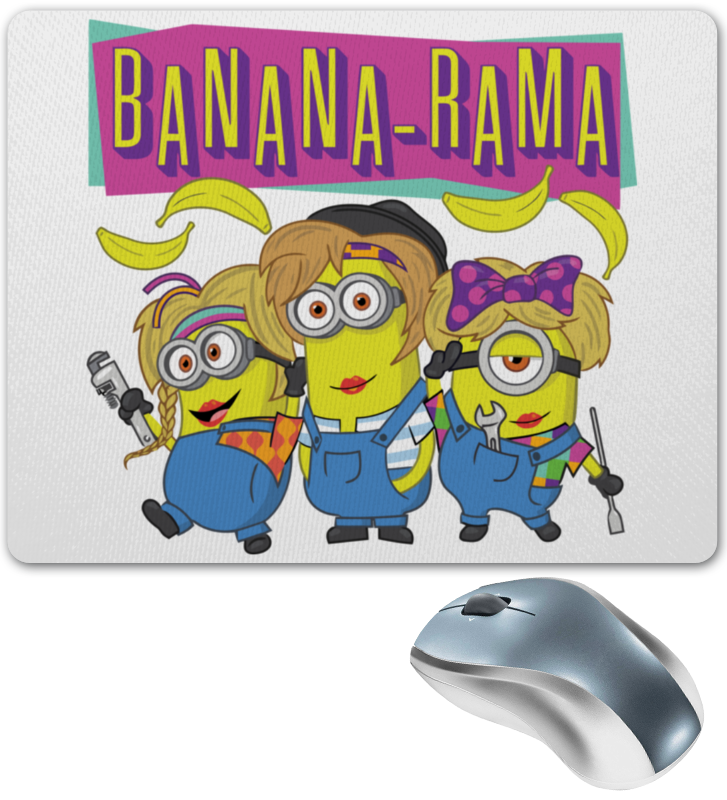 Коврик для мышки Printio Banana-rama slash rama