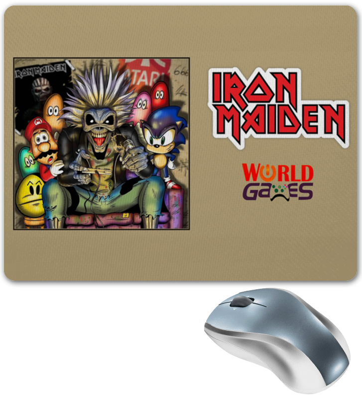 Коврик для мышки Printio Iron maiden iron maiden iron maiden running free live