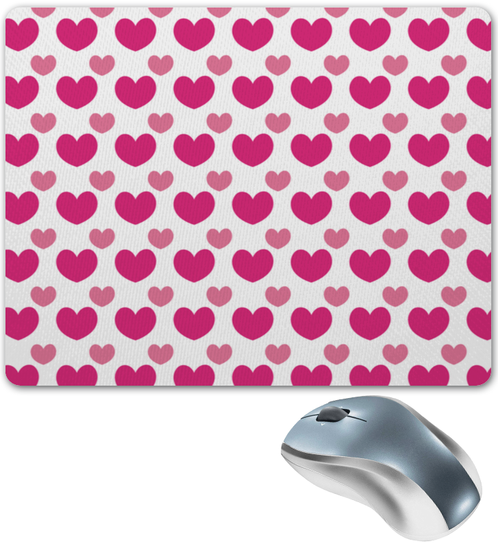 Коврик для мышки Printio Розовые сердечки коврик для мышки printio розовые сердечки