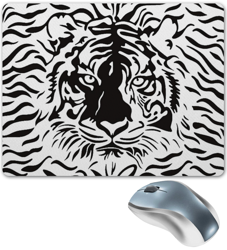 Коврик для мышки Printio Взгляд тигра мороз н ловушка для тигра