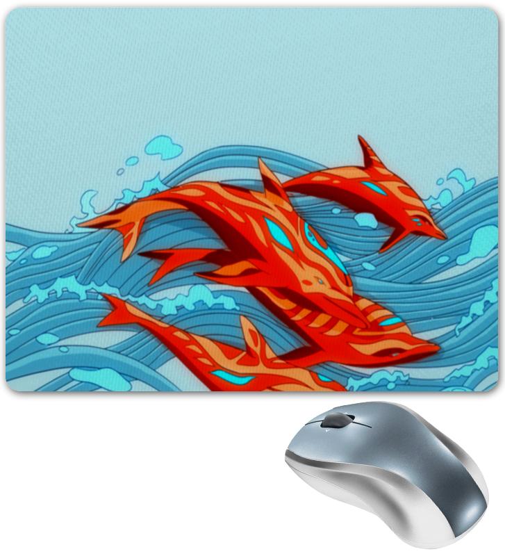 Коврик для мышки Printio Дельфины наклейка для интерьера дельфины