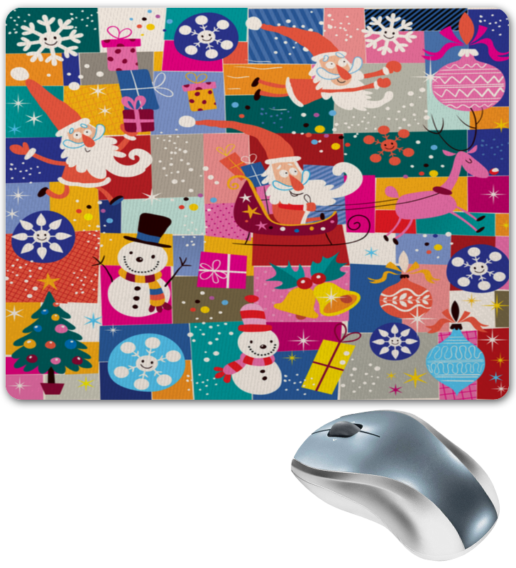 Коврик для мышки Printio Санта и подарки сумка printio подарки