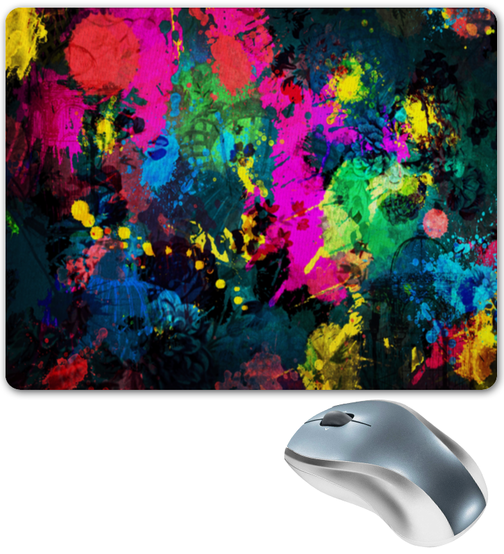 Коврик для мышки Printio Брызги красок коврик для мышки printio mclaren