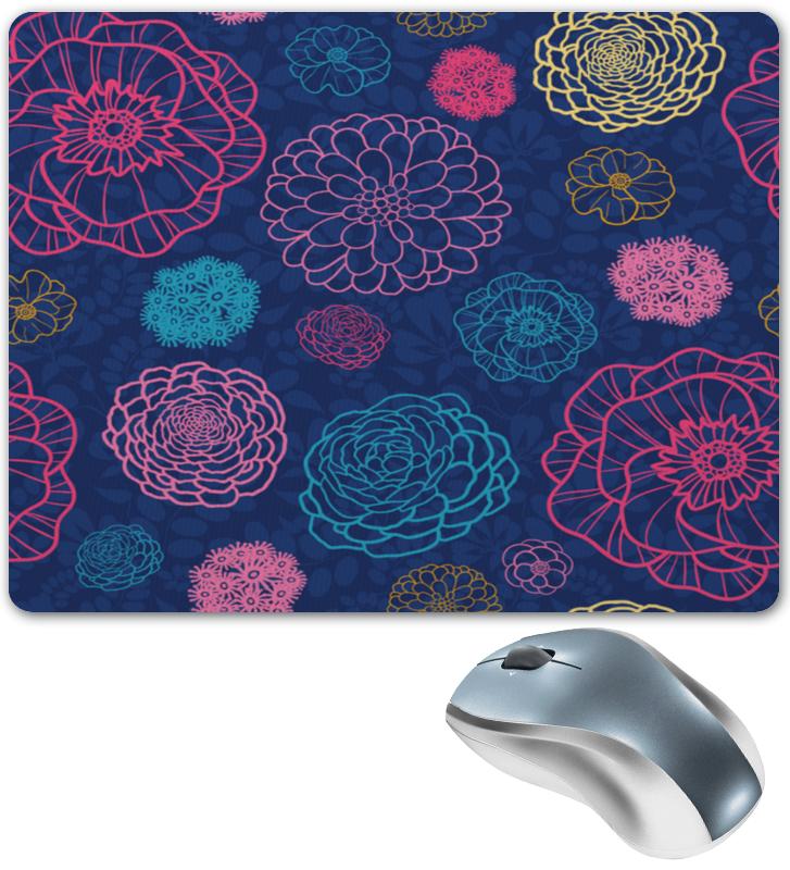 Коврик для мышки Printio Цветочный рисунок цена 2017
