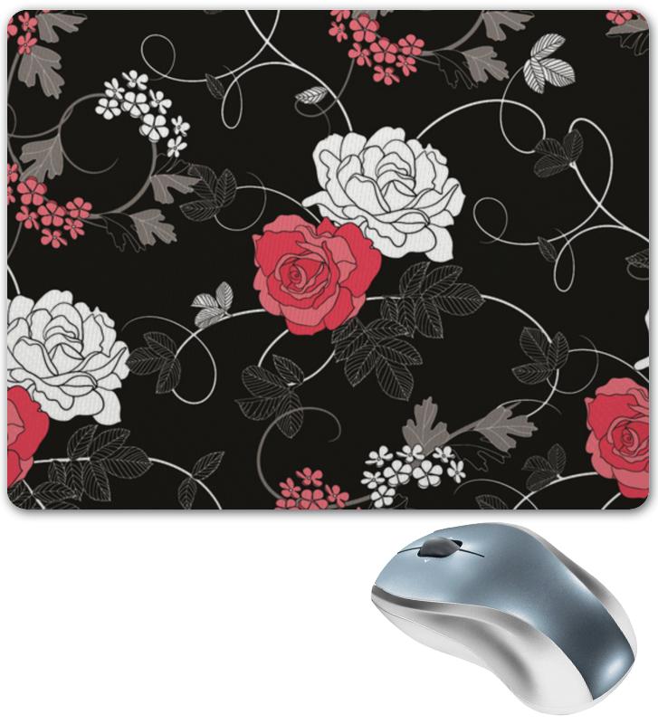 Коврик для мышки Printio Красная и белая розы цена и фото