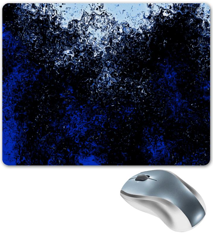 Коврик для мышки Printio Черно-синие брызги