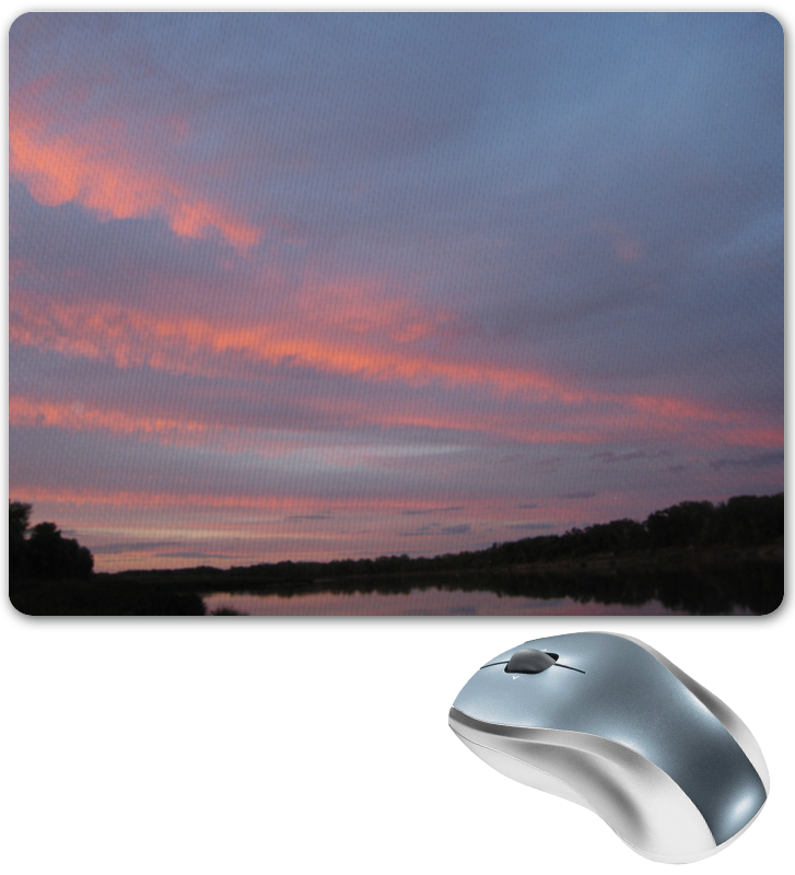 Коврик для мышки Printio Небо и дон река. sky and don river