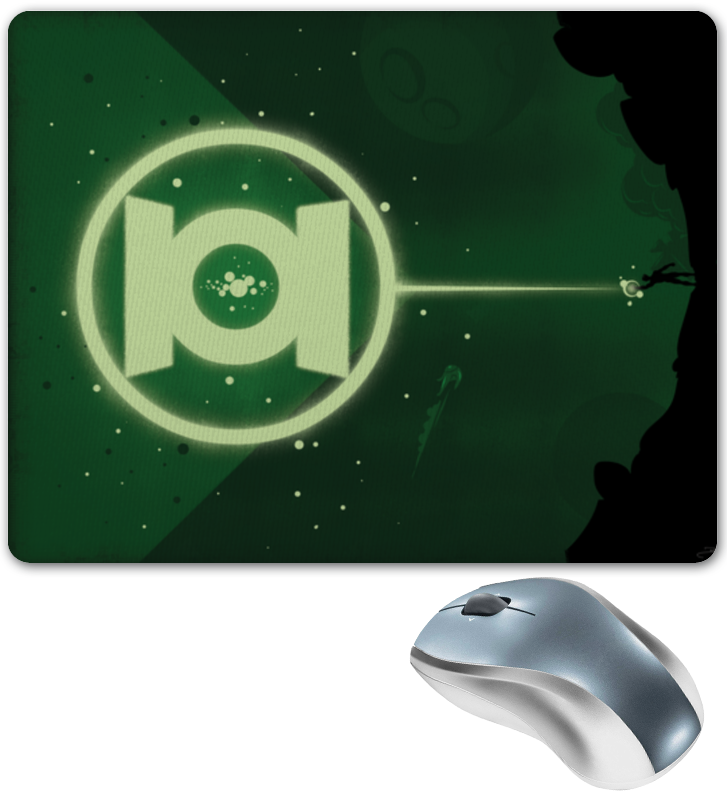 Коврик для мышки Printio Green lantern/зеленый фонарь чехол для iphone 6 глянцевый printio зеленый фонарь green lantern