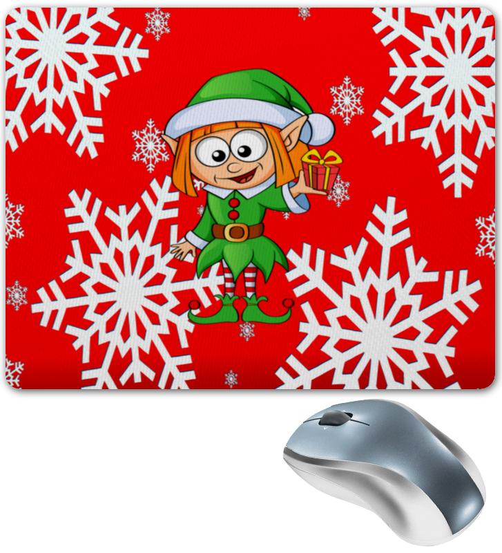Коврик для мышки Printio Эльф и подарок