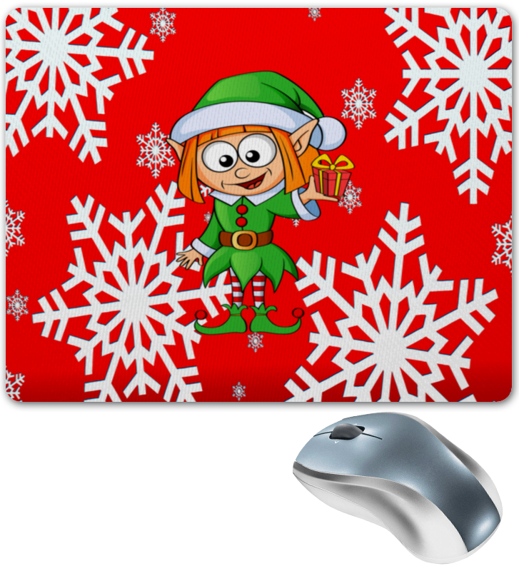 Коврик для мышки Printio Эльф и подарок коврик для мышки круглый printio подарок