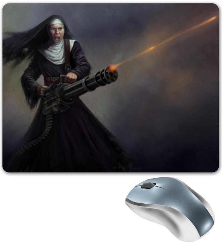 все цены на Коврик для мышки Printio Монашка с пулемётом