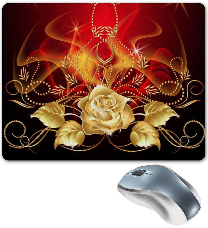 Фото - Коврик для мышки Printio Золотая роза сумка на молнии маленький принц розы на красном фоне 37 38см