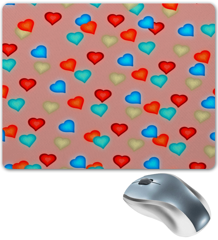 где купить Коврик для мышки Printio Сердечки по лучшей цене