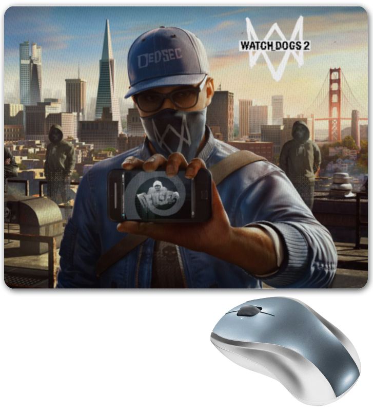 Коврик для мышки Printio Watch dogs 2 watch dogs aiden pearce face mask cap hat set costume video game cosplay cos