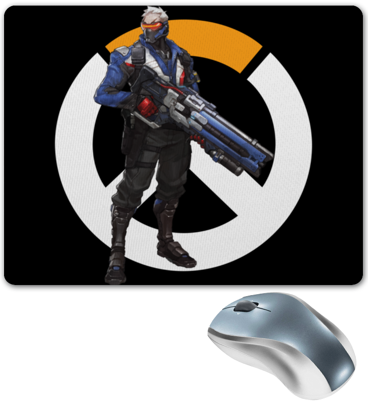 Коврик для мышки Printio Overwatch soldier 76 / овервотч солдат 76