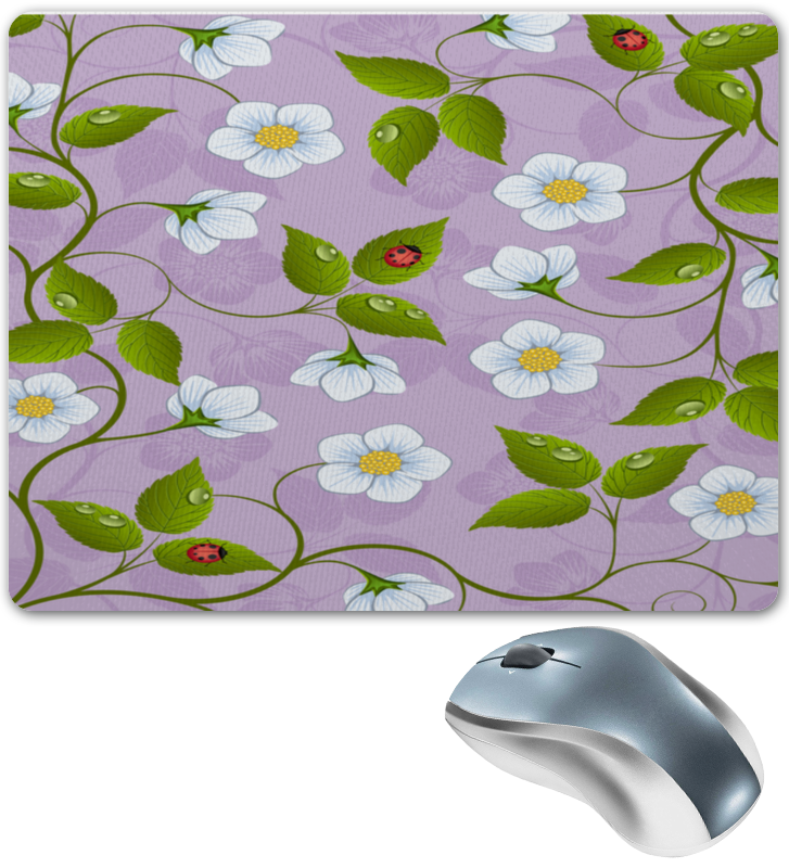 Коврик для мышки Printio Цветки клубники укрывной материал от сорняков для клубники купить