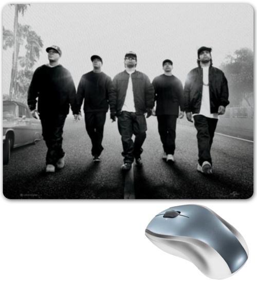 """Коврик для мышки """"Прямиком из Комптона"""" - rap, hip hop, nwa, голос улиц, straight outta compton"""