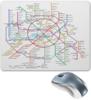 """Коврик для мышки """"Метрополитен """" - карта, метро, москвы, московское метро"""