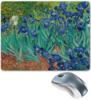 "Коврик для мышки ""Ирисы (Винсент Ван Гог)"" - картина, ван гог"