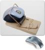 """Коврик для мышки """"Мышка в мышеловке"""" - юмор, приколы, мышь, компьютеры, общество"""