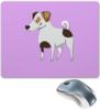 """Коврик для мышки """"ДЖЕК РАССЕЛ.СОБАКА"""" - майкл джексон, щенок, собака, животное, рассел"""
