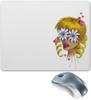 """Коврик для мышки """"Без ума от цветов"""" - любовь, девушка, цветы, сердца, блондинка"""