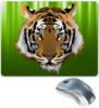 "Коврик для мышки ""Взгляд тигра"" - рисунок, взгляд, тигр, джунгли"