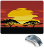 """Коврик для мышки """"Африка"""" - солнце, африка, графика, закат, саванна"""