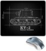 """Коврик для мышки """"KV-2 \\\"""" - world of tanks, танки, wot, чертежи танков, путин"""