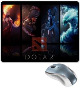 """Коврик для мышки """"Тематический, DotA 2, герои"""" - игры, герои, dota, dota 2"""