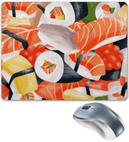 """Коврик для мышки """"Sushi"""" - еда, роллы, суши, япония, рыба"""