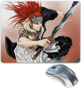 "Коврик для мышки ""Bleach Renji"" - аниме, манга, мульт, bleach, блич"