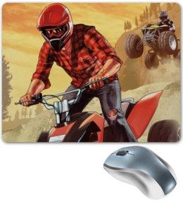 "Коврик для мышки ""Grand Theft Auto V"" - grand theft auto v, gta v, квадроцикл, спорт, гта"