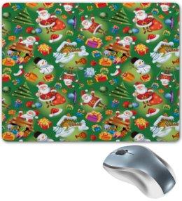 """Коврик для мышки """"Подарки"""" - подарки, дед мороз, санта, снеговик, елка"""