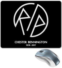 "Коврик для мышки ""RIP Chester"" - рок, linkin park, линкин парк, chester, честер"