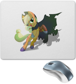 """Коврик для мышки """"Applejack"""" - pony, brony, applejack"""