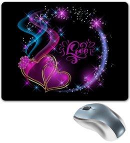 "Коврик для мышки ""Любовь"" - сердце, любовь, валентинка, день св валентина"