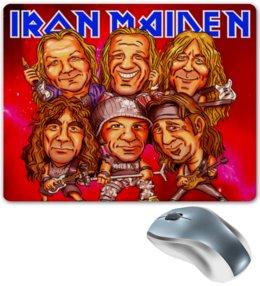 "Коврик для мышки ""Iron Maiden Band"" - music, rock, heavy metal, рок музыка, iron maiden, хэви метал, eddie"
