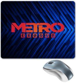 """Коврик для мышки """"Metro"""" - игры, метро, metro, metro exodus, метро исход"""