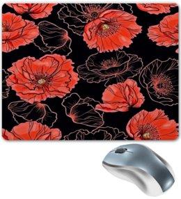 """Коврик для мышки """"Цветы"""" - цветы, маки, весна, узор, природа"""