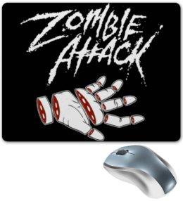 """Коврик для мышки """"Зомби атакуют"""" - зомби, zombie attack, разрубленная рука, зомби атакуют"""