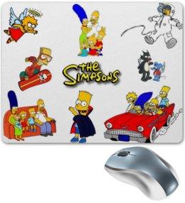 """Коврик для мышки """"Симпсоны"""" - коврик, мульты, комедия, the simpsons"""