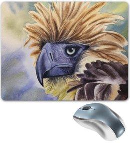 """Коврик для мышки """"Филиппинский орел """" - животные, птица, орел, иллюстрация, перья"""