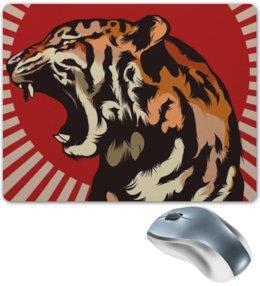 "Коврик для мышки ""Тигр арт"" - тигр, дикая природа, арт, звери, tiger"