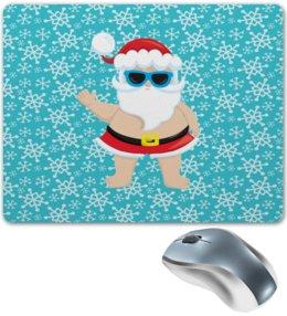 """Коврик для мышки """"Санта"""" - новый год, снег, снежинки, дед мороз, санта"""