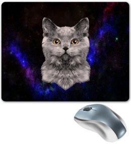 """Коврик для мышки """"Без названия"""" - кот, звезды, котенок, космос, коты в космосе"""