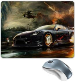 """Коврик для мышки """"Nissan GT-R"""" - арт, r, nissan, gt, gtr"""