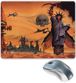 "Коврик для мышки ""Апокалипсис. Конец света"" - арт, юмор, война, конец света, монстры"