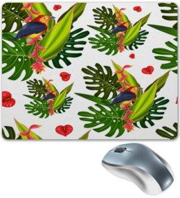 """Коврик для мышки """"Тропические цветы"""" - природа, цветочки, лето, тропики, цветы"""
